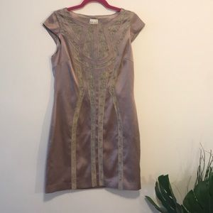 Reiss pink and lace dress sz 8